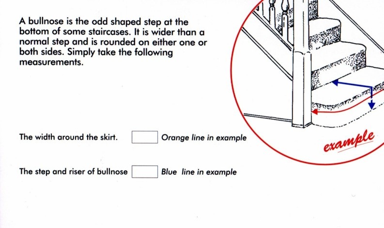 Measuring a Bull Nose Stair