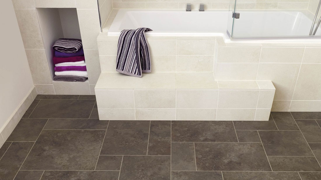 Luxury vinyl tiles oxfordshire kennington flooring for Vinyl floor tiles in bathroom