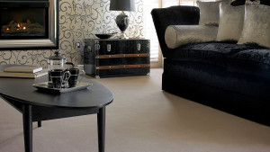 cream wool mix stain resistant carpet