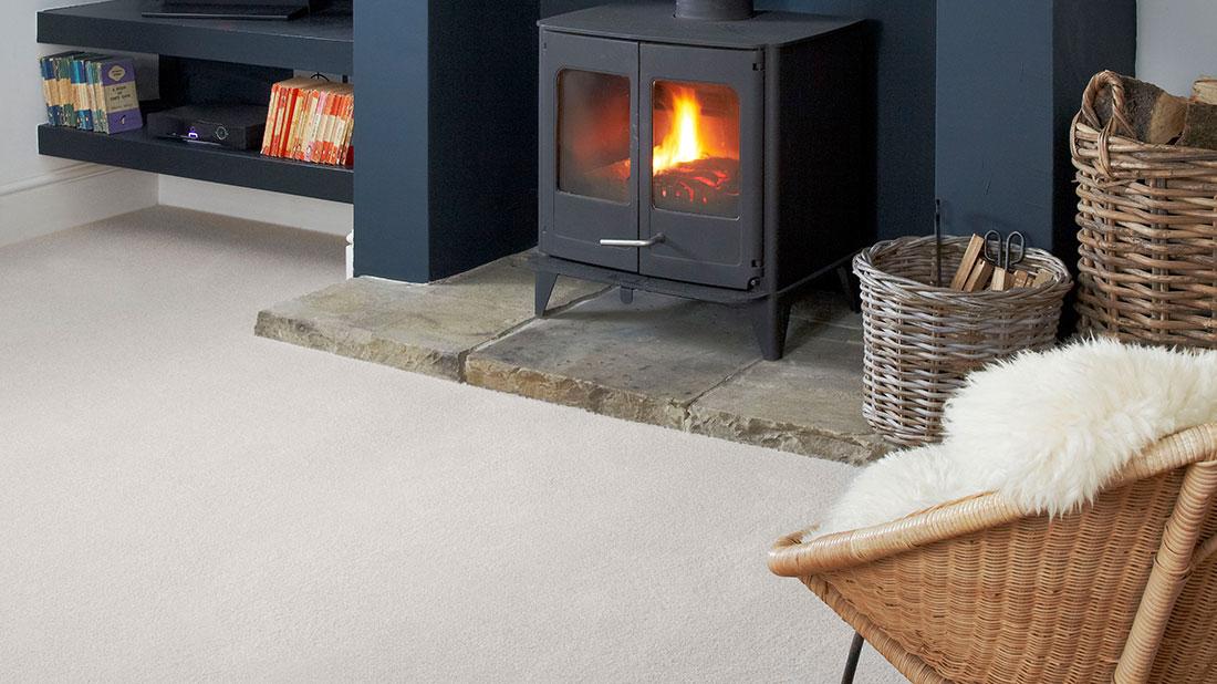 Wool mix living room carpet